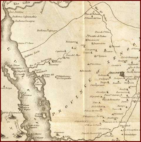 Sonora Territory 1810